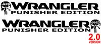 Jeep Wrangler Rubicon 2.0 Punisher Edition TJ LJ JK Vinyl Hood Decal Sticker