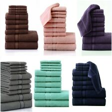 Luxury 10 PC Towel Bale Set 100% Cotton Face Hand & Bath Towels Bathroom Spa