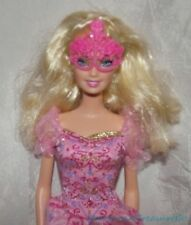 2008 BARBIE & THREE MUSKETEERS PINK CORINNE Blonde Jointed Doll w/Mask & Gown