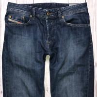 Mens DIESEL Waykee Jeans W30 L30 Blue Regular Straight Wash 0855L