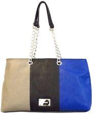 Nine West Designer Bags -Sassa Satchel Paris Mushroon Black-Diva Blue