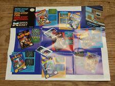 NES Nintendo Poster Data East Burgertime Bad Dudes Rampage Robocop 14×12 RARE