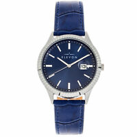Elevon Concorde Blue Leather Silver Men's Watch with Date Indicator ELE115-3