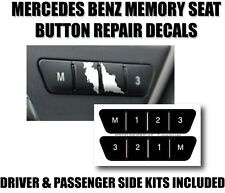 Seat Memory Switch Button Decals Mercedes Benz C E GL GLK GLK300 GLK350 GL450