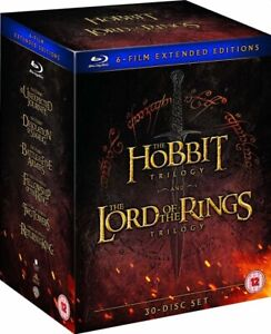 The Hobbit Trilogy / The Lord of the Rings Trilogy 30 Disc Blu Ray