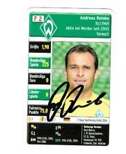 Andreas Reinke Quartettkarte 2006 Werder Bremen mit original Unterschrift !
