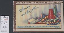 TYPE SEMEUSE CAMEE 15c - carnet VIRGILE CHAREYRE x 2 - 10 timbres (1928) LUXE