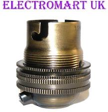 Laiton Antique Lampe Ampoule Titulaire Bc Baïonnette Cap 10 mm filetage