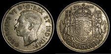 1939 Canada 50 Cents Silver Half Dollar VF-30 George VI