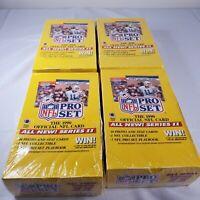 Lot of 4 - 1990 Pro Set Series 2 Football factory sealed wax box 36 packs / box