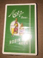 Omaha Metz Robin Hood Beer Bridge Playing Cards Mint Sealed