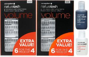 Salon System Naturalash Eyelashes Eye Lashes Black Value Pack 3 for 2 or 6 for 4