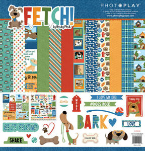 Photo Play Paper Fetch 12x12 Pet Dog Collection Kit Family Man Best Friend Puppy