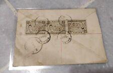 Malaysia 1958 Merdeka Malaya Tunku Abdul Rahman 3v stamp actual mail cover R7283