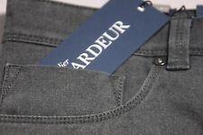 NEW DESIGNER JEANS Gardeur 38 X 30 Charcoal Blue WOOL LOOK BRAD 2% Elastane