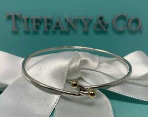Tiffany&Co 18k Sterling Hook Bracelet - Ball & Hook Bracelet with Box & Pouch