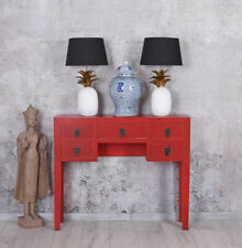 Table Console Chinoiserie Side Table Console Table Vanity Flurtisch Red