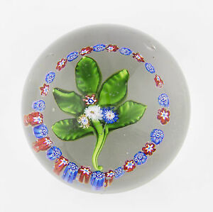 antique 19th Century St Louis lampwork Nosegay and garland glass paperweight