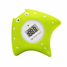 Baby Bath Waterproof Thermometer Floating Bath Toy w/ Lcd Screen - Green Fish