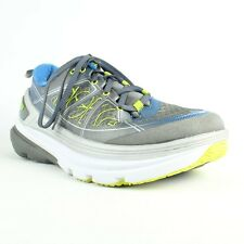 Hoka One One Constant 2 Mens Running Shoes, Grey/Blue/Green, Size 7.5 M