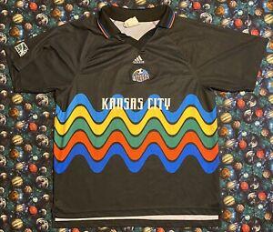 Rare Vintage Adidas MLS Kansas City Wizards Brian Johnson Futbol Soccer Jersey
