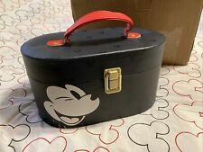 Disney Mickey Mouse Hard Small Luggage Jewelry Black Carrying Train Case New