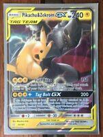 Pokemon Card   PIKACHU & ZEKROM  GX   Ultra Rare  33/181  TEAM UP  ***MINT***