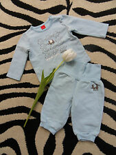 Esprit Baby Jungen Anzug Gr 68 hellblau Jogginganzug Pullover Hose Elefanten TOP