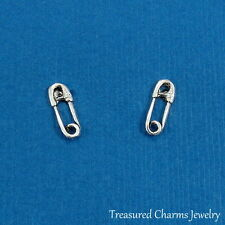 925 Sterling Silver Safety Pin Post Earrings - Diaper Pin Baby Stud Earrings NEW