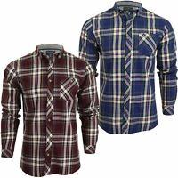Mens Tokyo Laundry Twill Check Shirt ''Milan' Long Sleeved