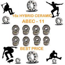 16 Precision Abec 11 hybrid ceramic bearings skate inline Skateboard scooter 9