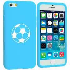 For Apple iPhone 4 4s 5 5s 5c 6 6s Silicone Soft Rubber Case Cover Soccer Ball