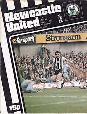 NEWCASTLE UNITED  V WREXHAM FA CUP  28/1/78