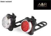 Bike A&R Brand LED Front And Rear Rechargeable Lights