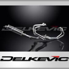 "Honda VFR800 Interceptor Full 4-1 Exhaust 14"" Carbon Oval Muffler 98 99 00 01"