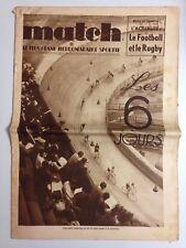 HEBDOMADAIRE SPORTIF MATCH L'INTRAN N°539 13 OCT 1936 - LES 6 JOURS