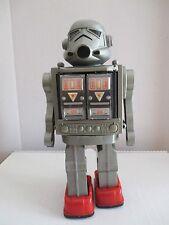 VINTAGE STORMTROOPER ROBOT 1970S HONG KONG SUPER ASTRONAUT SILVER