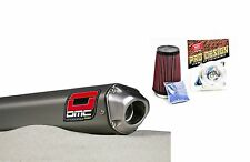 DMC QUIET SLIP ON EXHAUST SYSTEM PIPE + K&N KIT HONDA TRX400EX 1999 - 2013