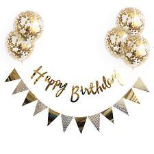 Luftballon Girlande Set Gold Konfetti Banner Ballons Geburtstag Happy Birthday