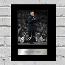 José Mourinho Mounted Photo Display Manchester United