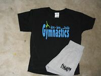 Gymnastic GYMNAST shorts with a Gymnastics live, love breathe t-shirt