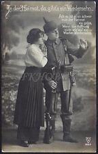 AK Postcard 1915 Army Soldiers Romance Armee Soldaten Woman Feldpost WWI (19)