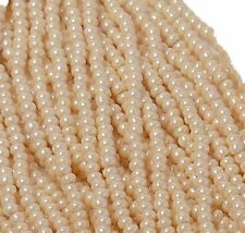 Opaque Eggshell Luster Czech 11/0 Glass Seed Beads 1 (6 String Hanks) Preciosa