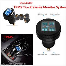 Car Tire Pressure LCD Display Monitoring System Wireless 4 External Sensors TPMS