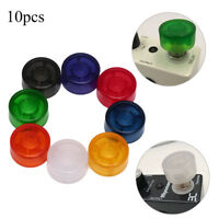10x footswitch topper plastic bumpers guitar effect pedal foot nail cap H_ti
