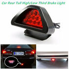 1PC F1 style 12LED Rear Tail Brake Stop Light Third Strobe Fog DRL Red Lens Lamp