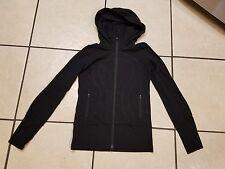 LULULEMON In Stride FULL-ZIP Yoga RUNNING HOODIE Jacket WOMENS SZ 4 Black