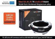 Adapter Nikon F Ai AF Lens TO Leica M L/M mount M5 M6 M7 M8 M9 220 240 Camera