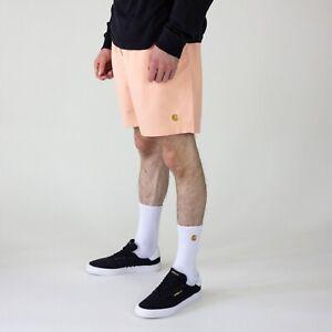 Carhartt WIP Chase Swim Trunk Shorts - Peach/Gold in size S,M,L,XL