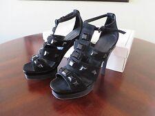 BCBG Maxazria Heels Victoria - Black Suede Studded Platform Size 7 Shoes